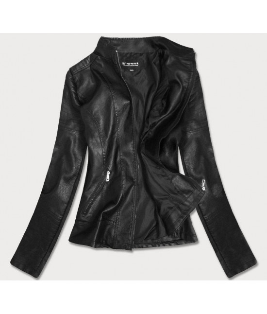 Dámska koženková bunda MODA19BIG čierna