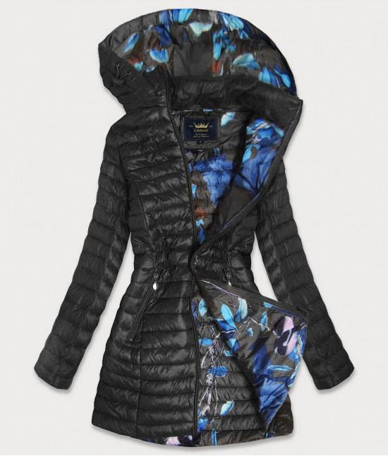 Dámska dlhá jesenná bunda MODA178BIG čierna
