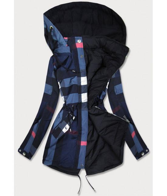 Obojstranná jesenná bunda MODA655BIG  tmavomodrá