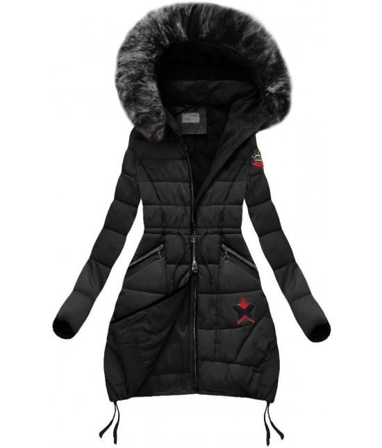 Dámska zimná bunda B3595 čierna - Dámske oblečenie  49f652a228e