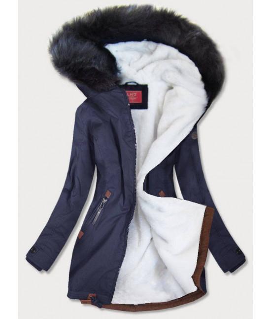Vodeodolná dámska zimná bunda parka MODA923 modrá