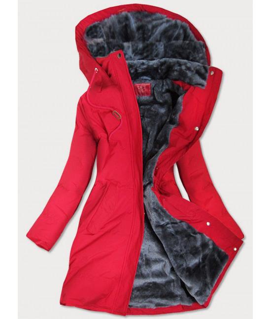 Prešívaná vodeodolná dámska zimná bunda MODA963 červená