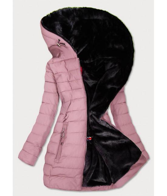 Vodeodolná dámska zimná bunda MODA13 ružová