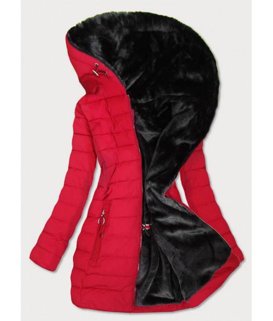 Vodeodolná dámska zimná bunda MODA13 červená