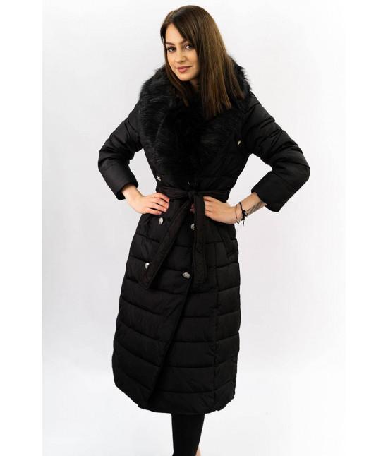 Dlhá dámska zimná bunda MODA005 čierna