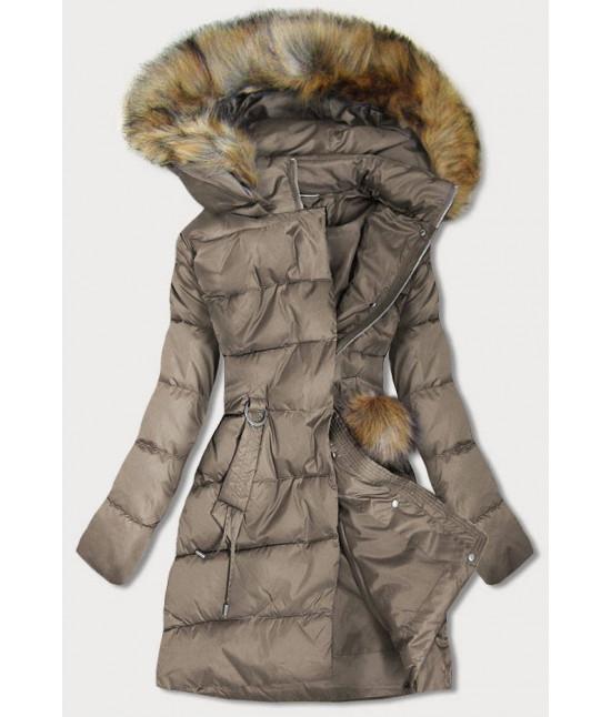 Dámska zimná bunda MODA988 hnedá