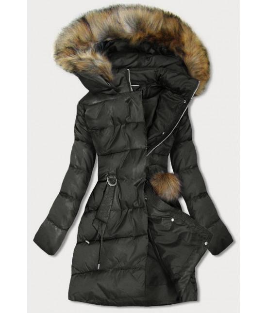 Dámska zimná bunda MODA988 khaki
