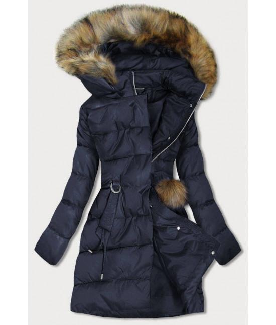 Dámska zimná bunda MODA988 tmavomodrá