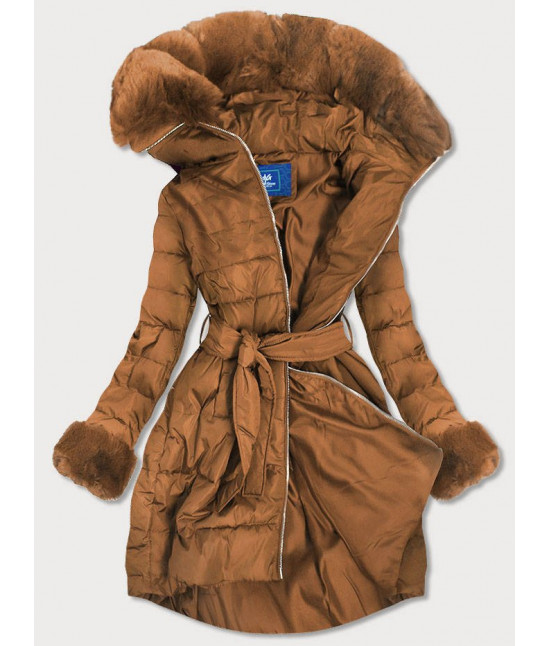 Dámska zimná bunda MODA006 hnedá