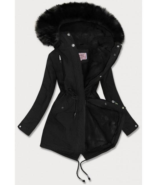 Dámska zimná bunda MODA378BIG čierna