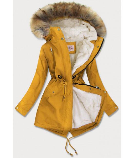 Dámska zimná bunda MODA378BIG žltá