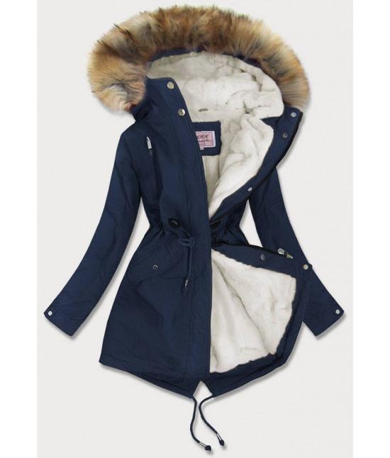 Dámska zimná bunda MODA378BIG tmavomodrá