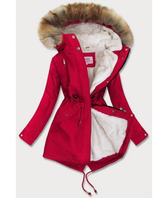 Dámska zimná bunda MODA378BIG červená