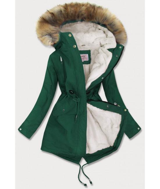 Dámska zimná bunda MODA378BIG zelená