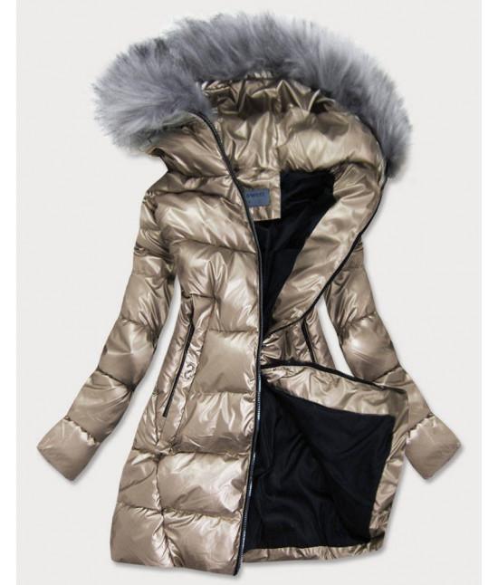 Dámska zimná bunda MODA9559BIG zlatá
