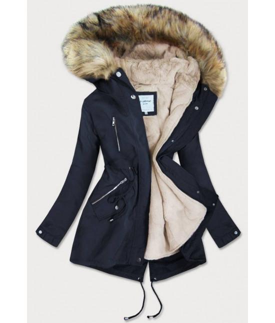 Dámska zimná bunda MODA3399 tmavomodrá