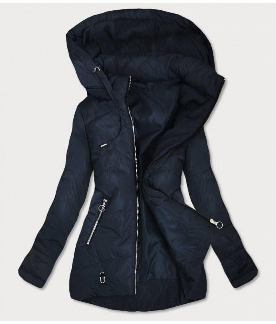 Dámska jesenná bunda MODA9532BIG tmavomodrá veľkosť 7xl