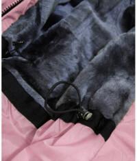 Dámska vodeodolná bunda parka MODA973 ružová S