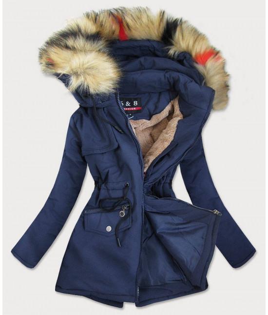 Dámska zimná bunda MODA2010BIG tmavomodrá