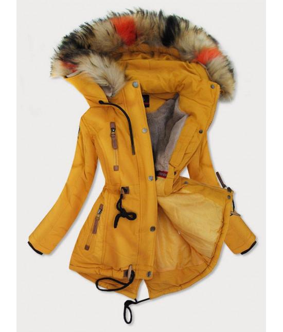 Dámska zimná bunda MODA208BIG žltá