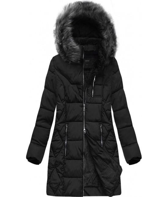 Dámska zimná bunda MODA902 čierna veľkosť 4XL