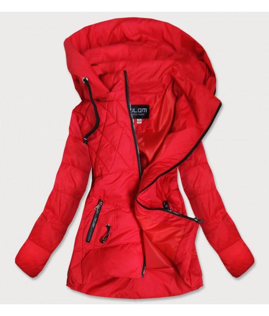 Dámska jesenná bunda MODA905 červená veľkosť 5XL