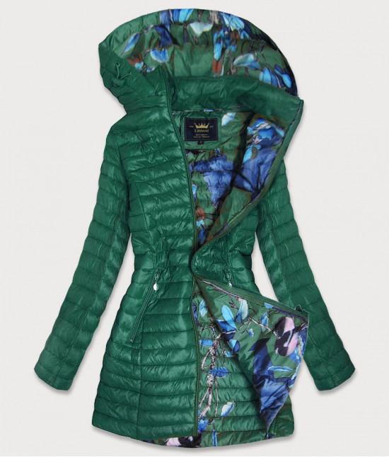 Dámska dlhá jesenná bunda MODA178 zelená M