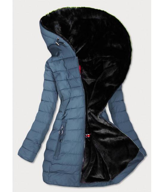 Vodeodolná dámska zimná bunda MODA13 modrá veľkosť XXL