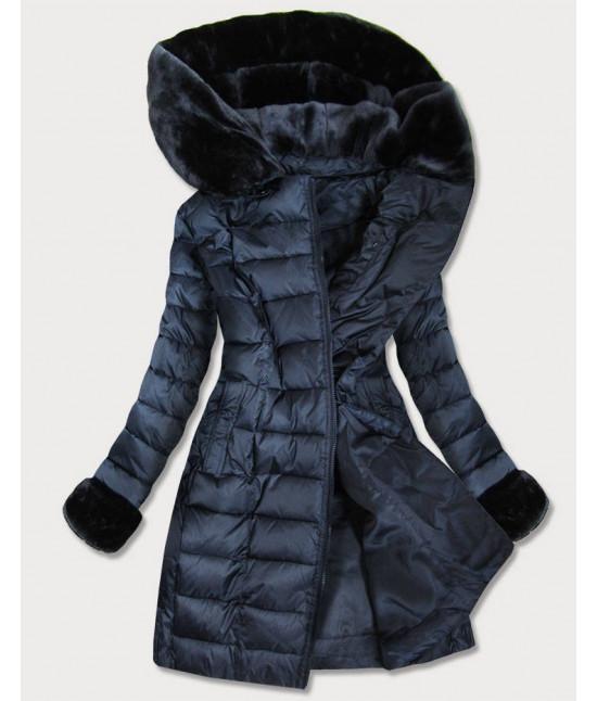 Dámska prešívaná zimná bunda MODA932BIG modrá 4XL