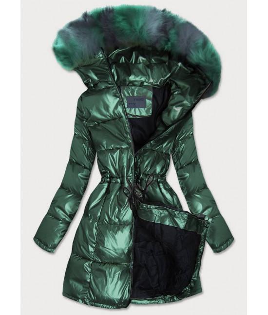 Dámska zimná bunda MODA9528 zelená