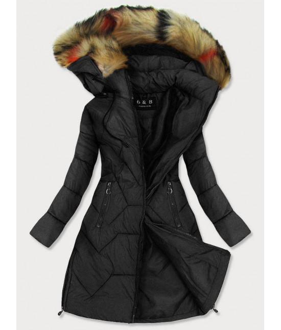Dámska prešívaná zimná bunda MODA2013 čierna