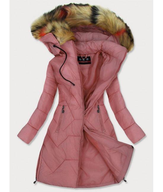 Dámska prešívaná zimná bunda MODA2013 ružová
