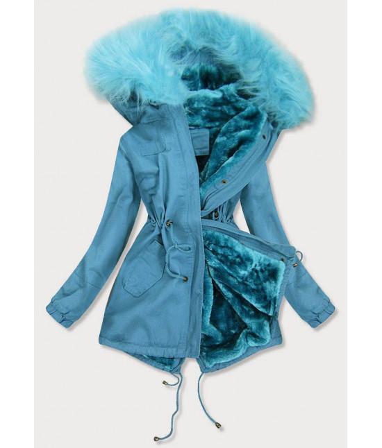 Dámska zimná bunda parka MODA213 modrá