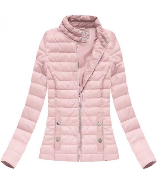 Dámska prechodná bunda ružová W71 - Dámske oblečenie  eabc2ce6db