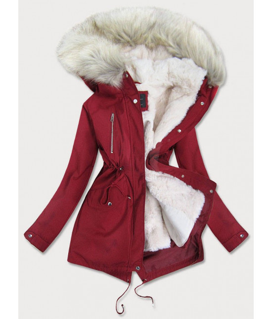 Dámska zimná bunda parka MODA1999 bordová