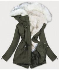 damska-zimna-bunda-parka-moda856-khaki