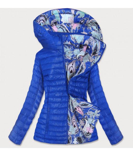Dámska obojstranná jesenná bunda MODA174 modrá veľkosť M