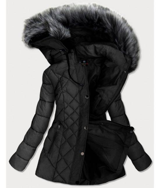 Prešívaná dámska zimná bunda MODA2015 čierna