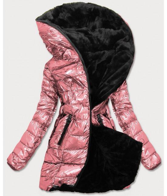 Dámska zimná bunda MODA543 ružová