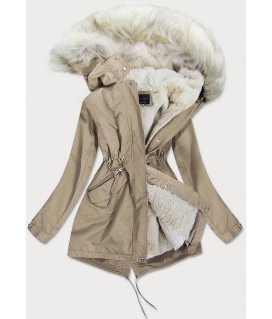 Dámska zimná bunda MODA996 béžová