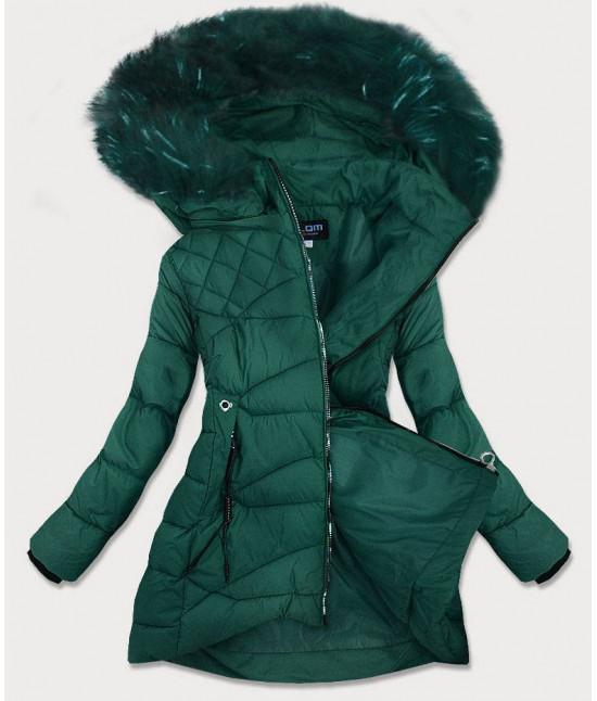 Dámska prešívaná zimná bunda MODA808 zelená