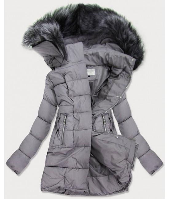Dámska prešívaná zimná bunda MODA17-032 šedá