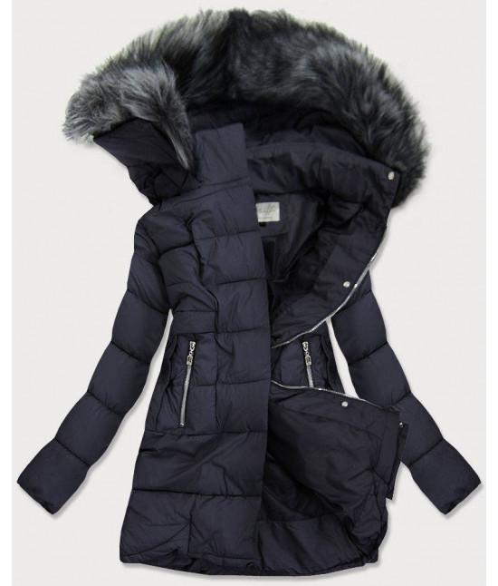 Dámska prešívaná zimná bunda MODA17-032 tmavomodrá