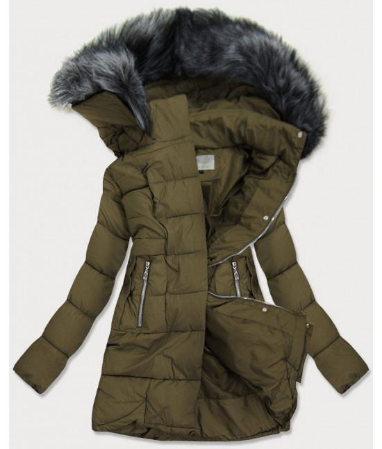 Dámska prešívaná zimná bunda MODA17-032 khaki