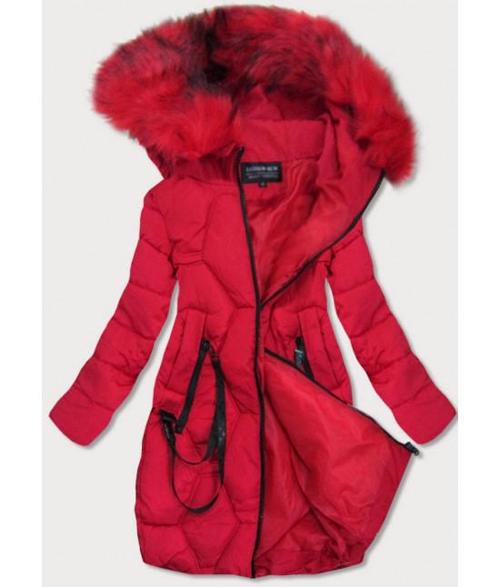 Prešívaná dámska zimná bunda MODA0163 červená