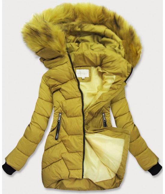 Dámska zimná bunda MODA988 horčicová