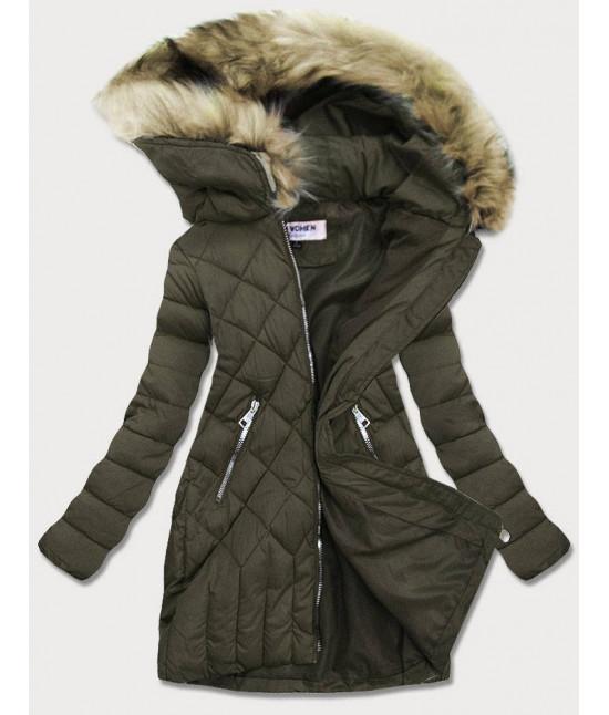 Dámska zimná bunda MODAF808 khaki