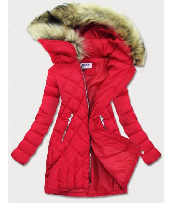 Dámska zimná bunda MODAF808 červená