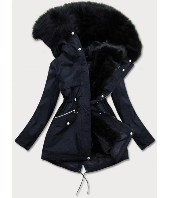 Dámska zimná bunda MODA6066 tmavomodrá
