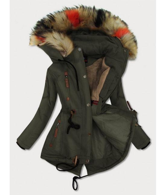 Dámska zimná bunda MODA208 khaki L